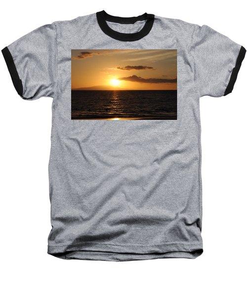 Sunset In Maui Baseball T-Shirt