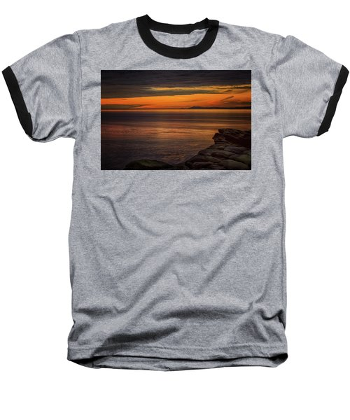 Sunset In May Baseball T-Shirt by Randy Hall