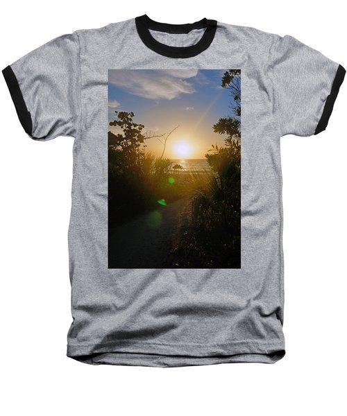 Sunset In Naples At Barefoot Beach Baseball T-Shirt