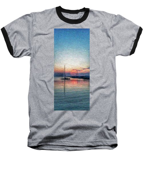 Sunset In Oil Tarpaulin Cove Baseball T-Shirt