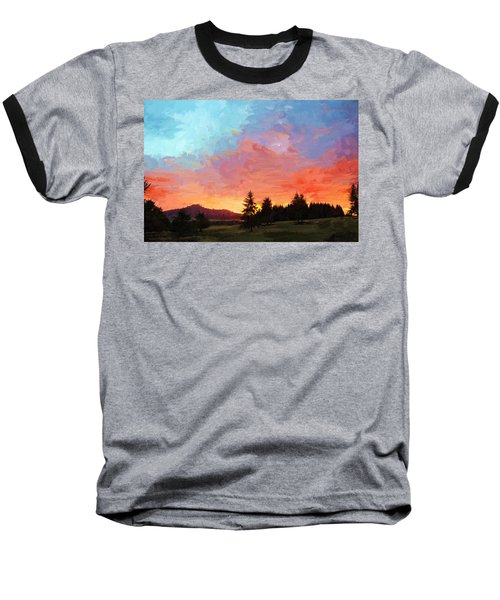 Sunset In Oregon Baseball T-Shirt