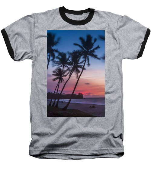 Sunset In Paradise Baseball T-Shirt by Alex Lapidus
