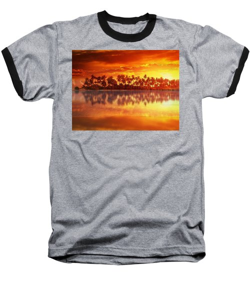 Sunset In Paradise Baseball T-Shirt by Gabriella Weninger - David