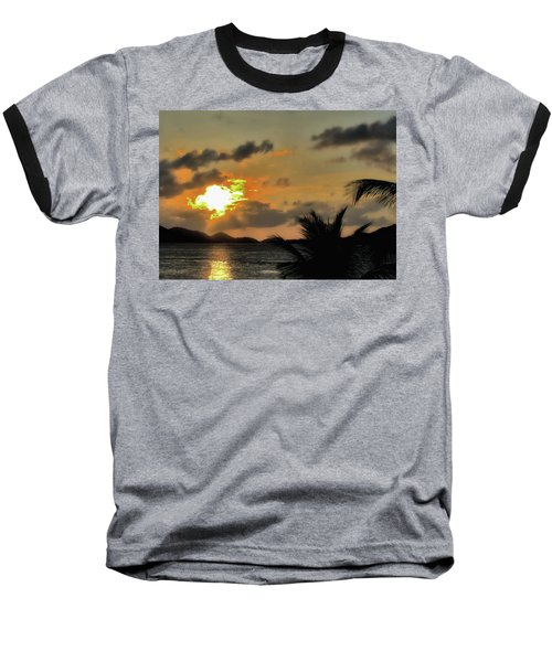 Sunset In Paradise Baseball T-Shirt by Jim Hill