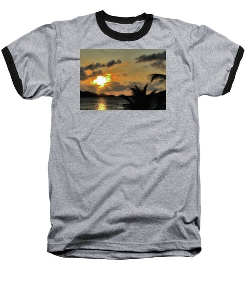 Baseball T-Shirt featuring the photograph Sunset In Paradise by Jim Hill