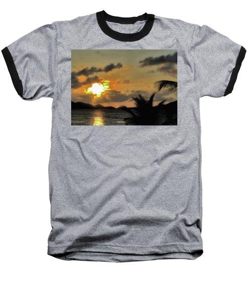 Sunset In Paradise Baseball T-Shirt