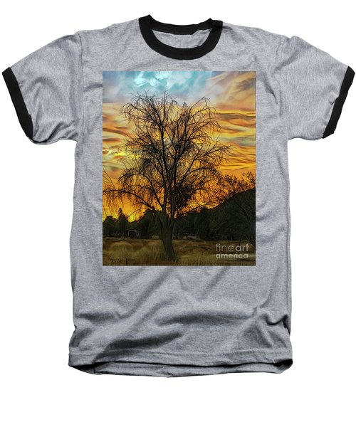 Sunset In Perris Baseball T-Shirt