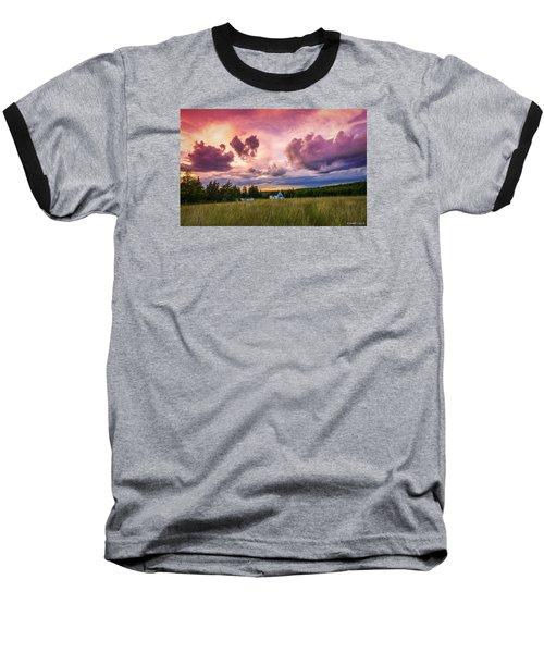 Sunset In Rear Intervale Baseball T-Shirt