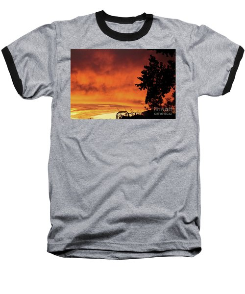 Sunset In Reno, Nevada Baseball T-Shirt