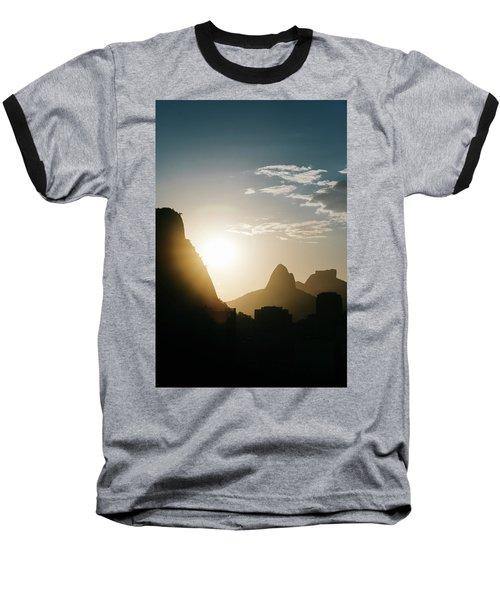 Sunset In Rio De Janeiro, Brazil Baseball T-Shirt