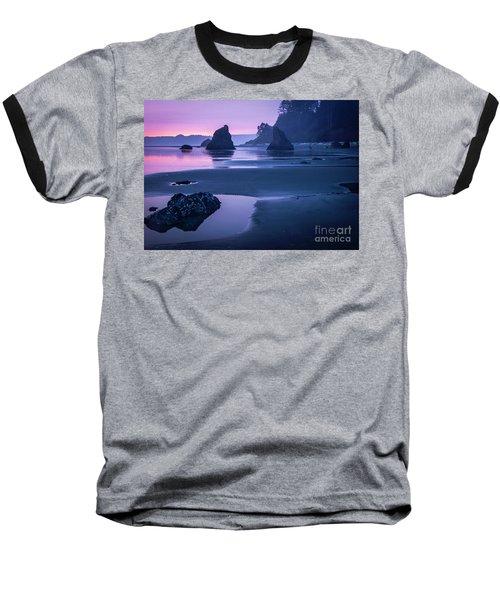 Sunset In Ruby Beach Baseball T-Shirt