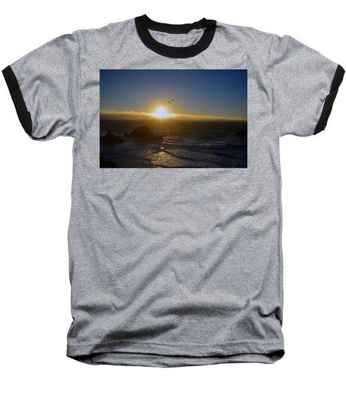 Sunset In San Francisco Baseball T-Shirt