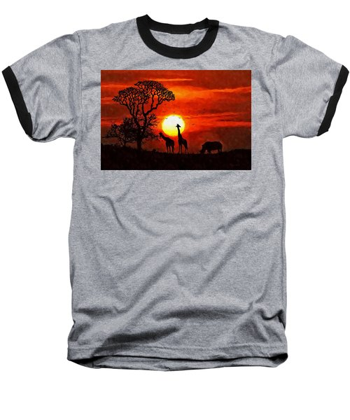 Sunset In Savannah Baseball T-Shirt