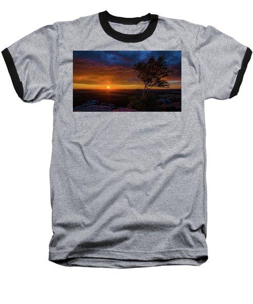 Sunset In Saxonian Switzerland Baseball T-Shirt by Andreas Levi