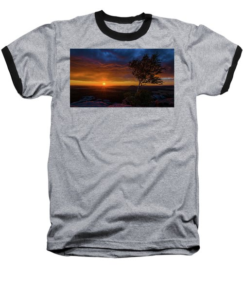 Sunset In Saxonian Switzerland Baseball T-Shirt