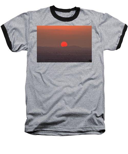 Sunset In Smog Baseball T-Shirt