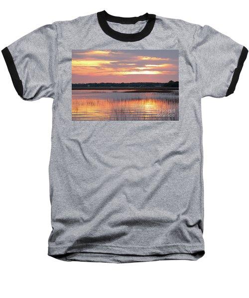 Sunset In South Carolina Baseball T-Shirt