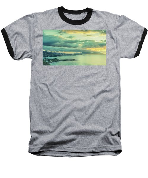 Baseball T-Shirt featuring the photograph Sunset In Tahiti by Gary Slawsky