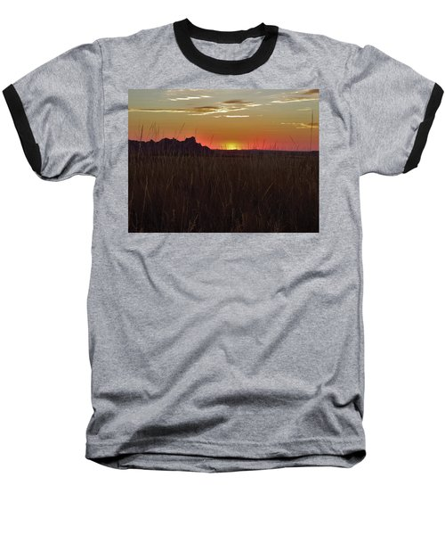Sunset In The Badlands Baseball T-Shirt