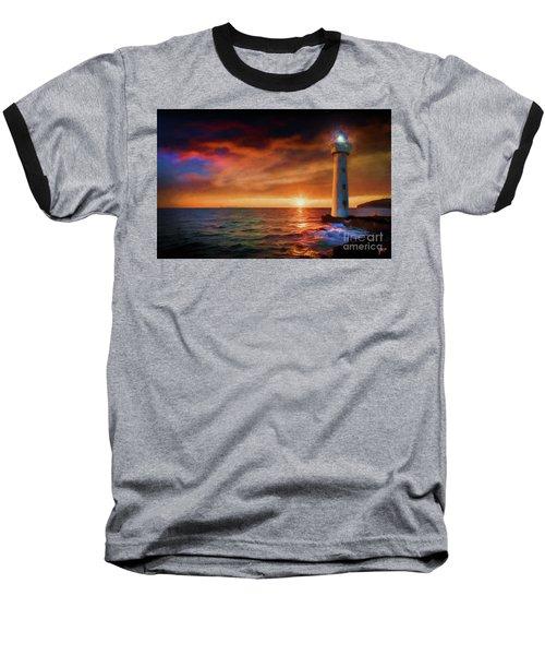 Sunset In The Bay Baseball T-Shirt