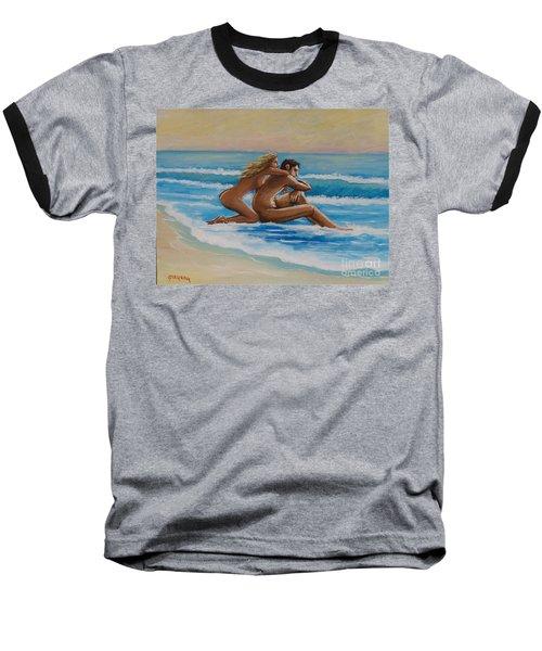 Sunset In The Beach Baseball T-Shirt