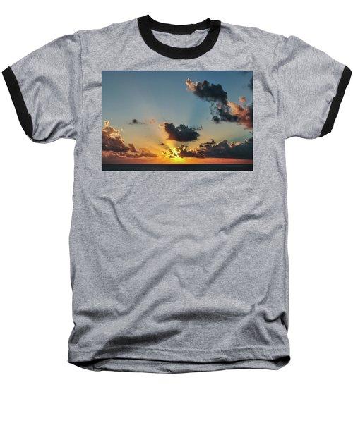 Sunset In The Caribbean Sea Baseball T-Shirt