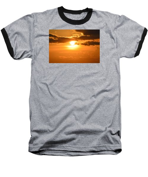 Baseball T-Shirt featuring the photograph Sunset In The Clouds  by Lyle Crump