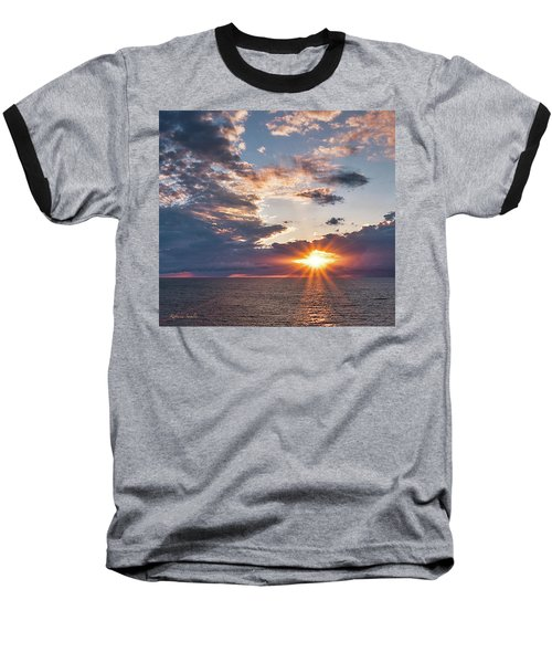 Sunset In The Clouds Baseball T-Shirt