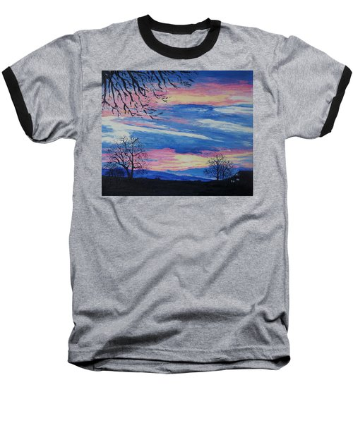 Sunset In The Country Baseball T-Shirt by Lisa Rose Musselwhite