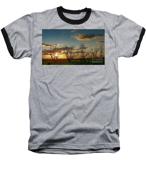 Sunset In The Fields Of Binyamina Baseball T-Shirt