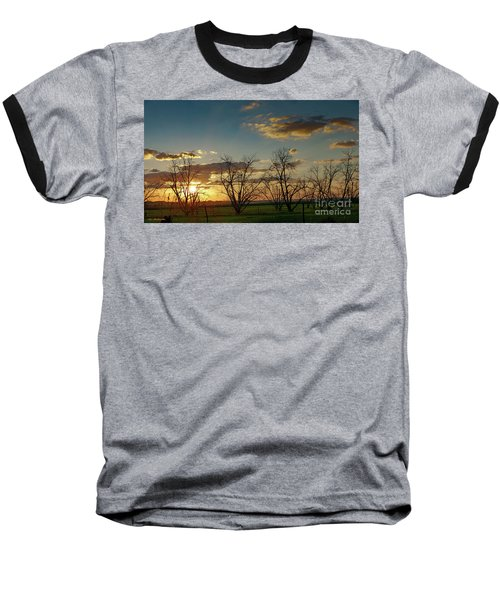 Sunset In The Fields Of Binyamina Baseball T-Shirt