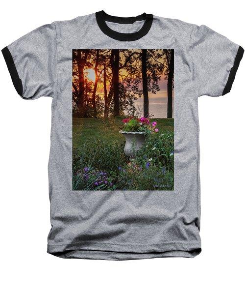 Sunset In The Flowers Baseball T-Shirt