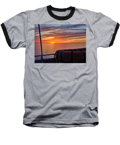 Sunset In The Gulf Baseball T-Shirt