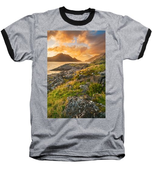 Baseball T-Shirt featuring the photograph Sunset In The North by Maciej Markiewicz