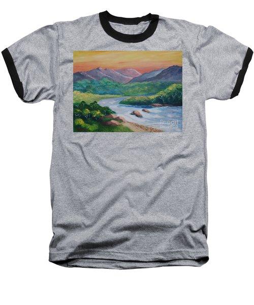 Sunset In The River Baseball T-Shirt