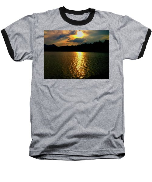 Baseball T-Shirt featuring the digital art Sunset In The Smoky Mountains 1 by Chris Flees
