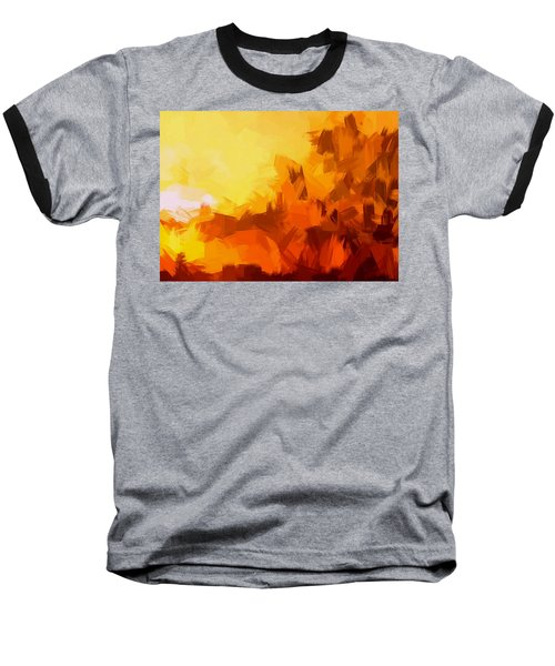 Sunset In Valhalla Baseball T-Shirt by Paulo Guimaraes