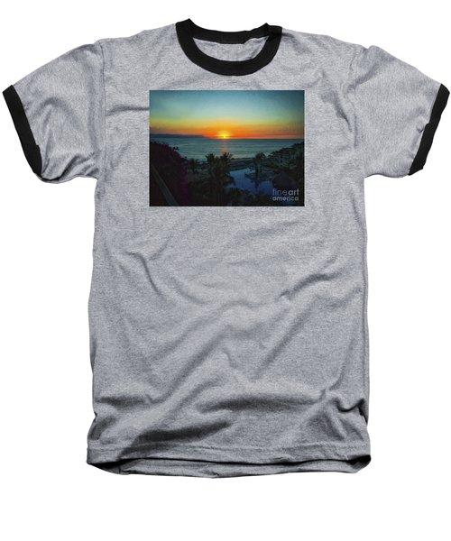 Sunset In Vallarta  ... Baseball T-Shirt by Chuck Caramella