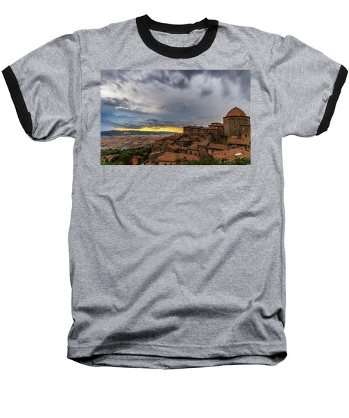 Sunset In Volterra Baseball T-Shirt