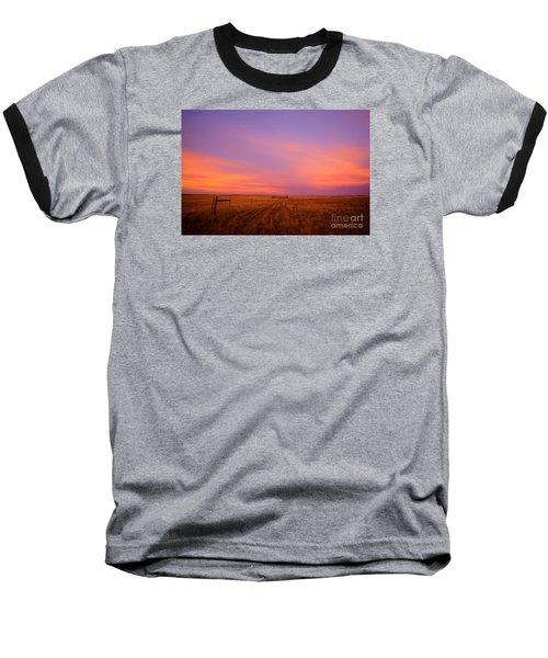 Sunset In Wyoming Baseball T-Shirt