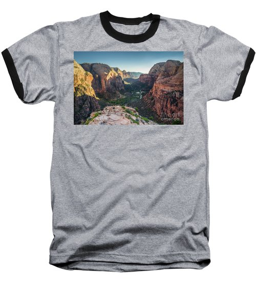 Sunset In Zion National Park Baseball T-Shirt by JR Photography