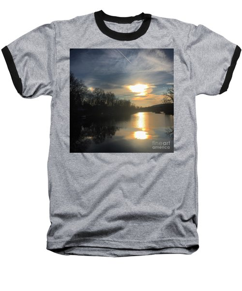 Sunset  Baseball T-Shirt by Jason Nicholas