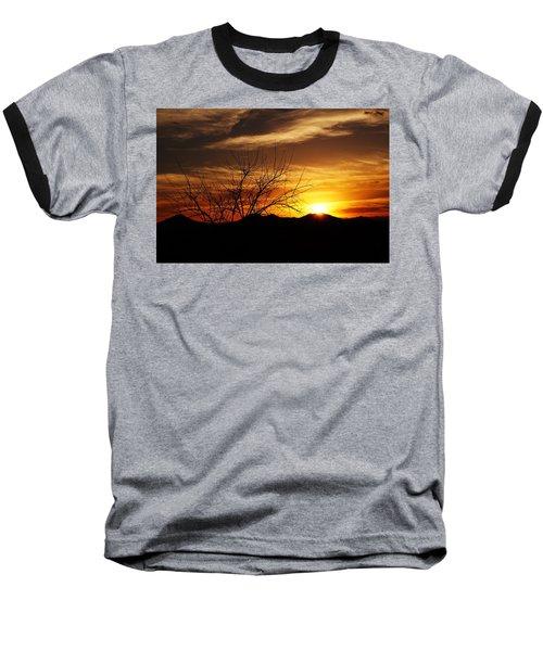 Sunset Baseball T-Shirt by Joseph Frank Baraba