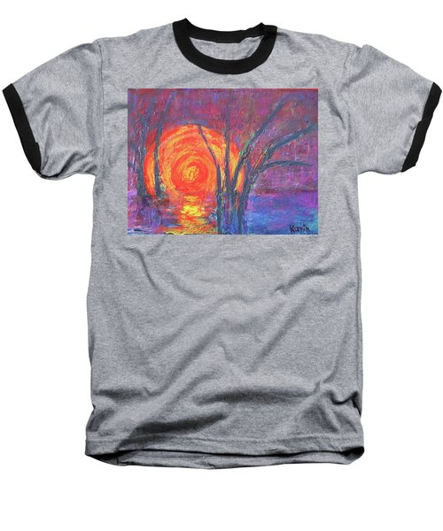 Sunset Baseball T-Shirt by Karin Eisermann
