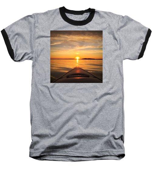 Sunset Kayak 2 Baseball T-Shirt