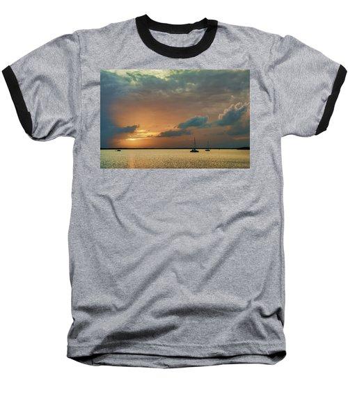 Sunset, Key Largo Baseball T-Shirt by Dana Sohr