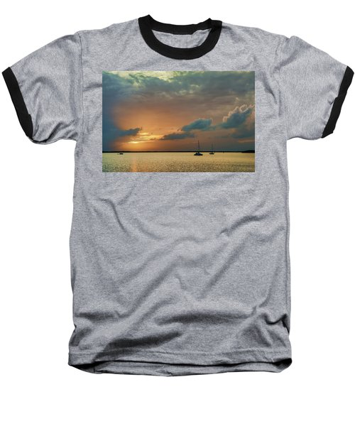 Sunset, Key Largo Baseball T-Shirt