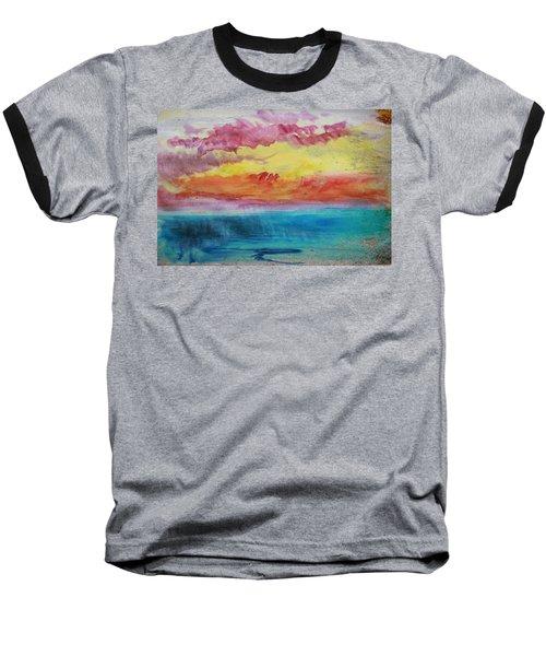 Sunset Lagoon Baseball T-Shirt