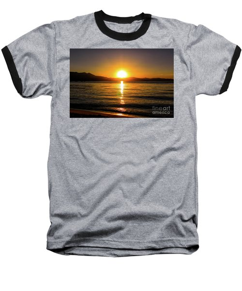 Sunset Lake 1 Baseball T-Shirt