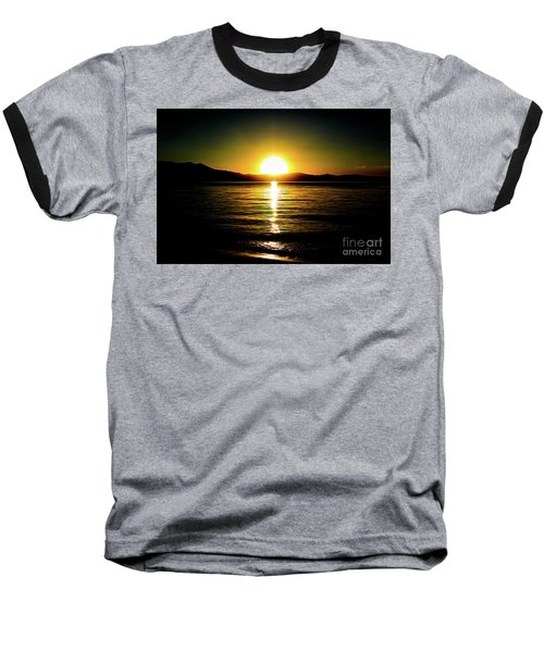 Sunset Lake 2 Baseball T-Shirt